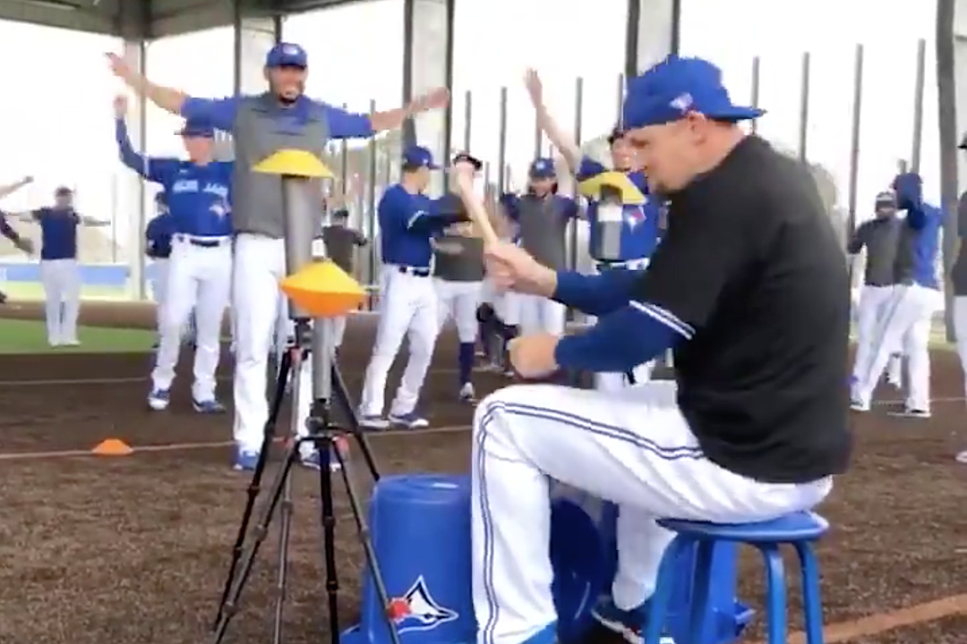 Watch Pro Baseball Player Air Drum to Rush's Neil Peart Like a Maniac
