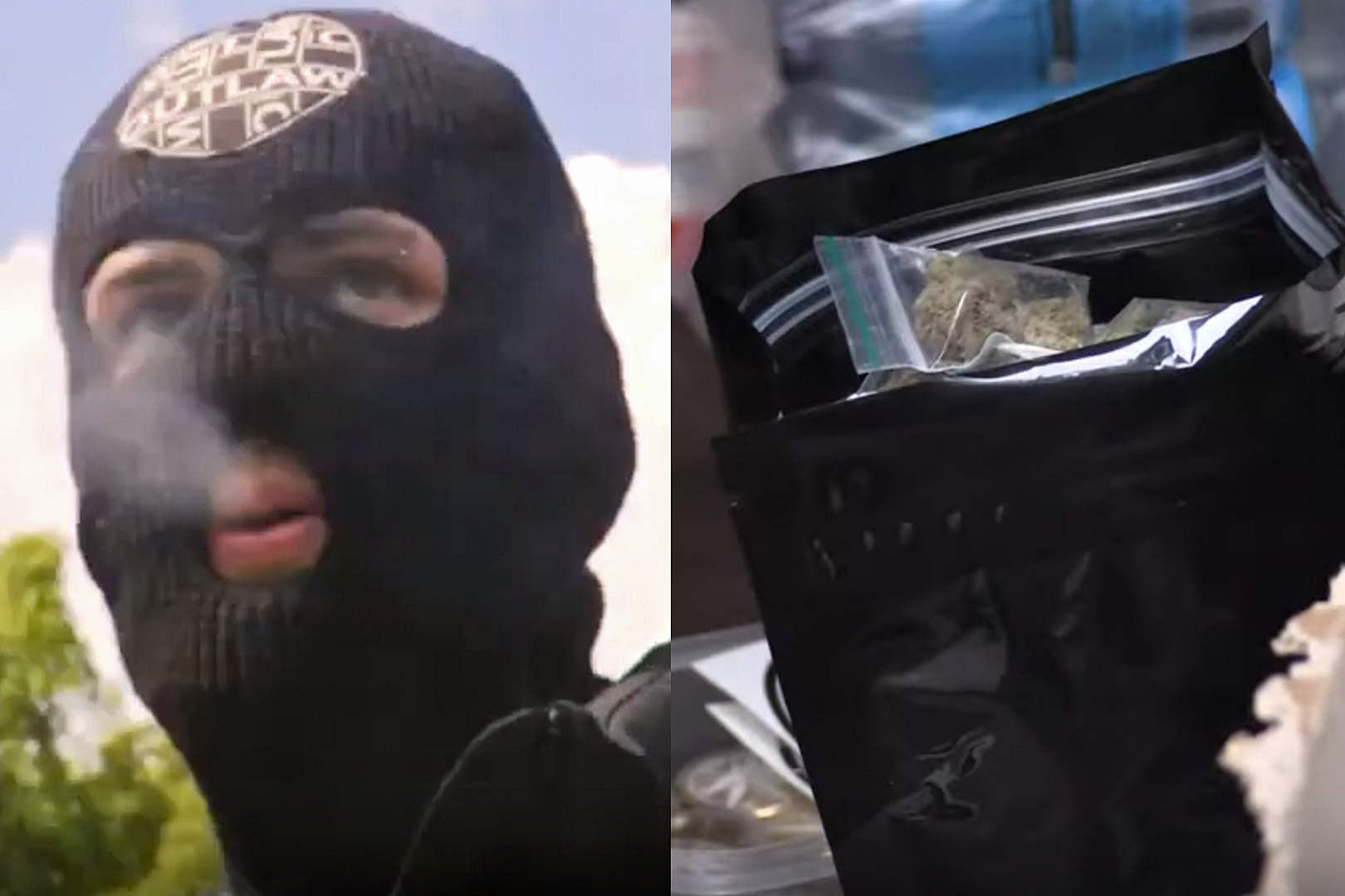 Masked Music Producer Hands Out Free Weed + Toilet Paper During Pandemic